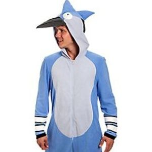 Regular show Mordecai One Piece Costume Sz. L/XL